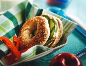Ahorn-Gurken-Bagels