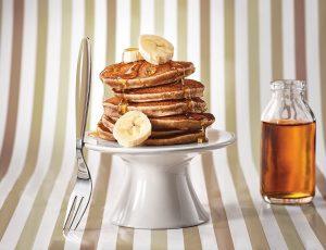 Bananarama Pancakes mit Ahornsirup