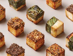 Karamellisierte Tofu-Würfel