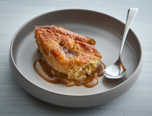 Gebackener Ahorn-Pudding