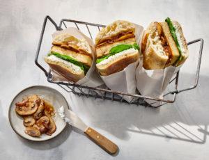Heiße Tofu-Ahorn-Sandwiches