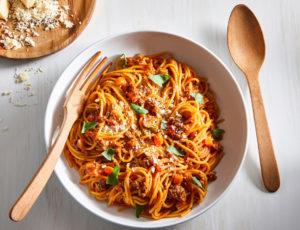 One-Pot-Spaghetti mit Ahorn-Hacksauce
