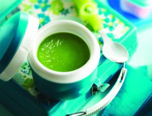 Schnelle grüne Erbsensuppe