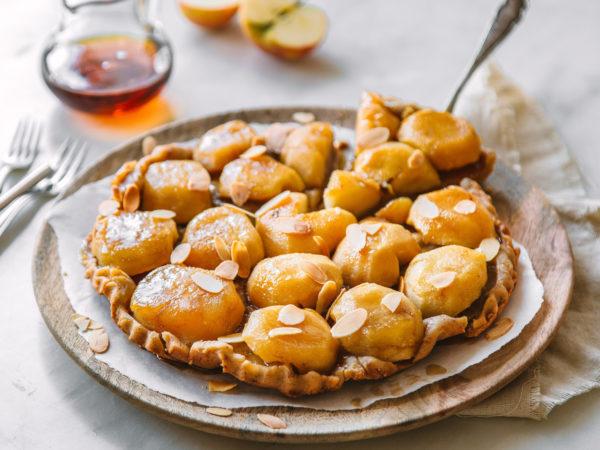 Ahornsirup, Äpfel, Mandeln,