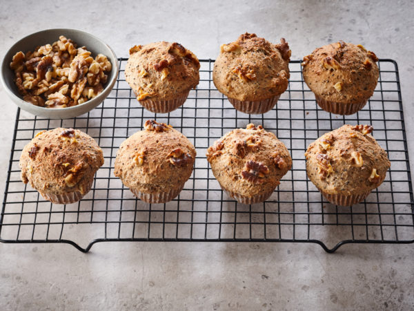 Vegane Ahorn-Nuss-Muffins