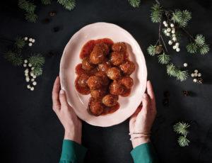 Vegane Frikadellen in Tomatensauce