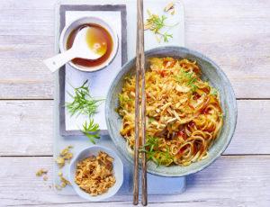 Kimchi-Sauerkraut mit Reisnudeln