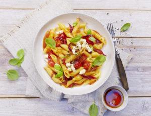 Schnelle Pasta mit Ahornsirup-Tomaten-Sugo