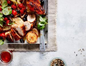 Ofen-Huhn mit Fenchel und weinseligem Sößchen