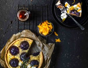 Ahornsirup-Feigen-Quiche mit Burrata