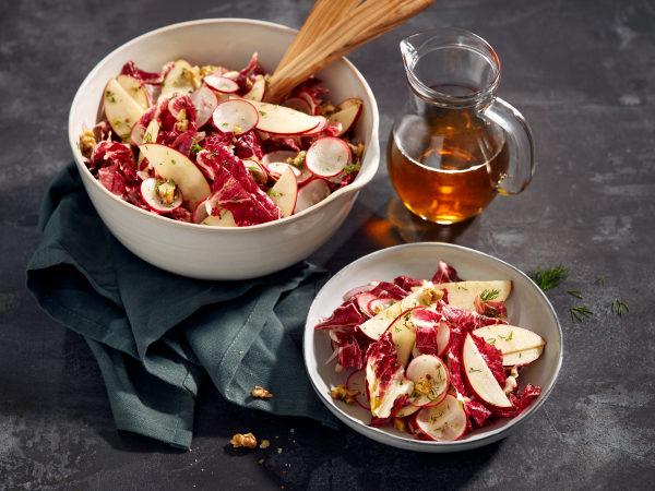 Chef Stein Ahorn Apfel Walnuss Salat