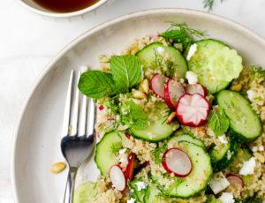 Couscous-Salat mit Ahornsirup-Dressing