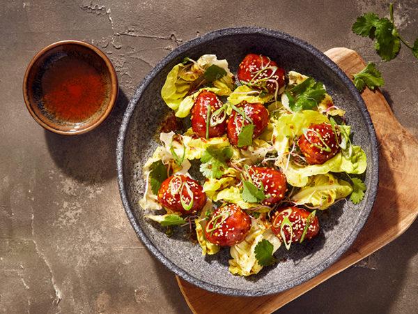 Korean Fried Chicken mit Ahornsirup