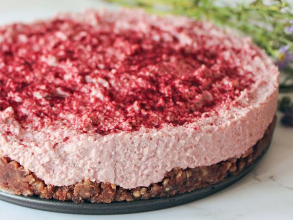 No bake Ahorn-Rhabarberkuchen